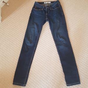 Levis Bold Curve woman size 0 blue jeans skinny